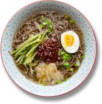 Пібім і муль ненмьон (Bibim and Mul Naengmyeon, 비빔냉면, 물냉면)