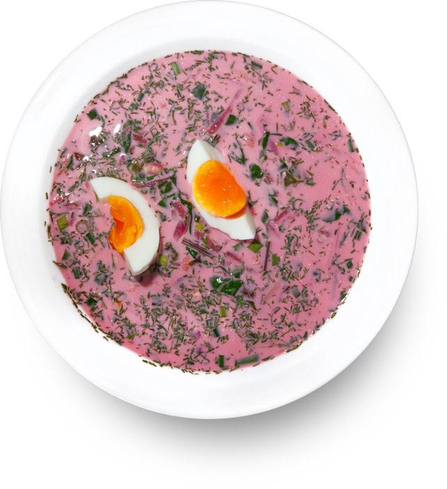 Cold Beetroot Soup (Халаднiк, Chłodnik litewski)